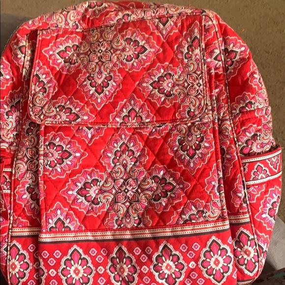 Red Vera Bradley backpack